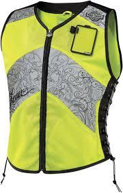 yellow motorcycle jacket icon womens mil spec corset motorcycle vest hi vis reflective