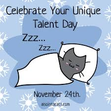 cat calendar november 24th celebrate your unique talent day