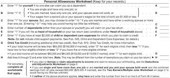 W4 Worksheet Taxes From A To Z 2015 W Is For Withholding From Wages Taxgirl