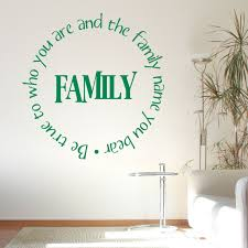 true your family name quote wall sticker world true your family name quote wall sticker decal