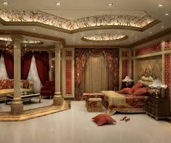 perfect bedroom ceiling in red lights design of paint color view