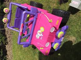 wrangler jeep pink barbie electric wrangler jeep pink purple in yeadon west