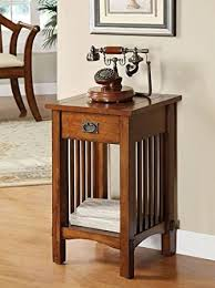 Mission Style Nightstand Plans Amazon Com Legacy Decor Mission Style Telephone Stand End Table