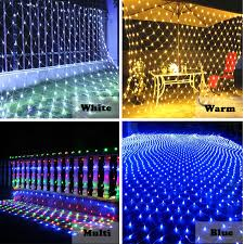 1 5 1 5m 120 bulbs led net lights garland outdoor lighting