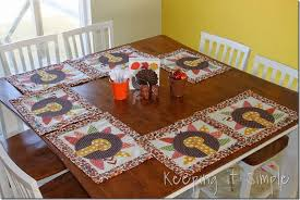 turkey placemats personalized turkey placemats turkeytablescapes keeping it