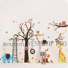 stickers chambre bébé garcon pas cher stickers muraux enfant animaux et arbre achat vente stickers