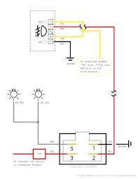 generic toyota oem style aftermarket fog light wiring diagram