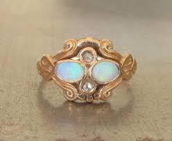 vintage opal engagement rings opal engagement ring unique engagement ring vintage opal diamond