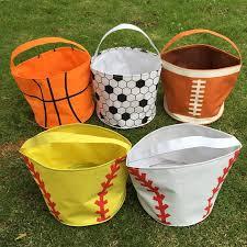wholesale blanks 2016 sports halloween buckets baseball softball