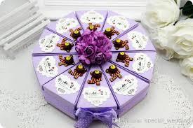 customized wedding favors customized card boxes cake shape bears flower polka