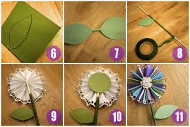 Handmade Flowers Paper - how to make a fan paper flower handmade4all