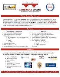 federal service help desk corporate capabilities cambridge federal