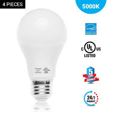 a19 dimmable led light bulb 9 8w 6500k cool white 800 lumens