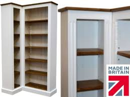 wooden corner bookcase 100 solid wood corner bookcase 6ft handcrafted u0026 white painted