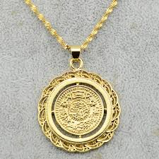 round pendants necklace images 1pcs men womens middle size coin pendant necklace chain gold jpg