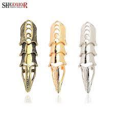 long gold rings images Vintage punk long rings for women lovely gold silver bronze color jpg