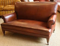 Antique Leather Sofa 1920s 1930s Sofa Oak Legs Leather Chairs Of Bath Leather