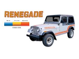 renegade jeep cj7 amazon com 1985 1986 jeep renegade cj5 cj7 decals u0026 stripes kit