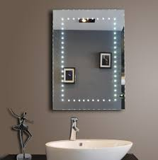 Heated Bathroom Mirror With Light Mirror Design Ideas Brown Led Bathroom Mirrors With Shaver Socket