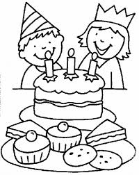 preschool birthday coloring pages party and birthday cake