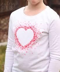 valentines day shirt diy eraser sted s day shirt cutesy crafts