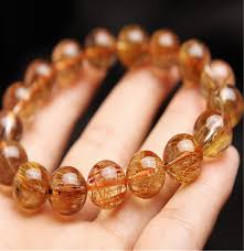 quartz crystal bracelet beads images 12 5mm genuine brazil natural copper hair rutilated quartz jpg