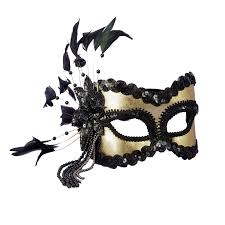 carnaval masks black and gold carnival mask buycostumes