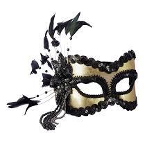 carnival masks black and gold carnival mask buycostumes