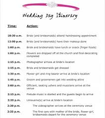 wedding agenda templates 10 event itinerary template collections