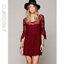 lace dresses boho chic bohemian lace date dresses crochet mini swing dress