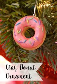 clay donut ornament one artsy