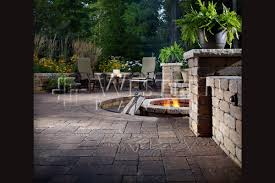 25 brick patio design ideas patio with catalina pavers and firepit