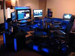 Awesome Gaming Desk Awesome Gaming Setup Desk Top Small Office Design Ideas With 1000