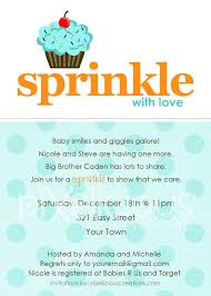 sprinkle custom baby shower invitation boy and digital