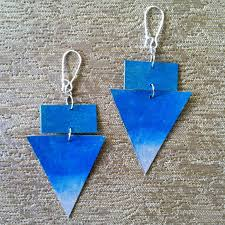 cardboard earrings earrings traash
