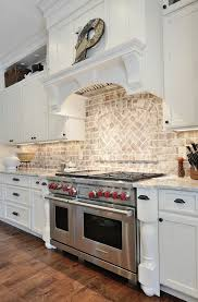 kitchen backsplash brick amazing amazing brick backsplash for kitchen best exposed brick