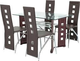 aft 4 seater glass dining table with chairs mahogany aftd4g