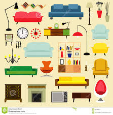 furniture ideas for living room stock vector image 55798677