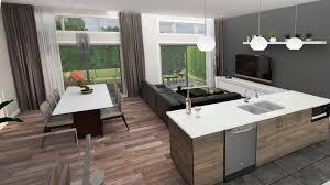 cuisine aire ouverte maisons de ville habitations moderno