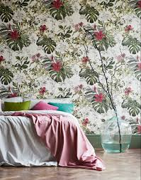 home decor ideas palm springs inspired wallpaper patterns
