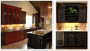 Distressed Black Kitchen Cabinets by Home Decor Kitchens With Black Cabinets Andes Kitchen Photos