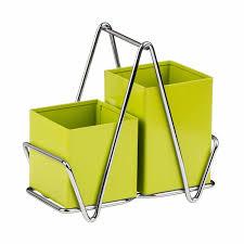 Green Kitchen Utensil Holder Premier Housewares Lime Green Cutlery Caddy Metal Utensil Holder