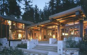 wooden house plans beautiful house of wood stone and steel on bainbridge island