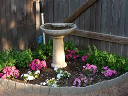 corner flower beds birdbath in flower bed my dream yard