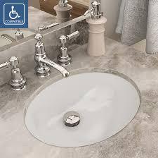 Oval Bathroom Sinks Decolav Carlyn 1401 Series Oval Undermount Vitreous China