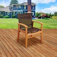 Patio Chairs Wood Stackable Outdoor Dining Chairs Patio Chairs The Home Depot