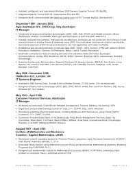 Resume Usa Format Resume In Ms Word Format
