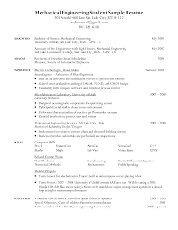 Sample Resumes For Mechanical Engineers by Sample Resume Mechanical Engineering Job