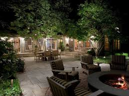 Garden Patio Lighting Landscape Lighting Ideas Outdoor Backyard Lounge Area With Garden