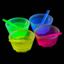 glow in the cups glow in the mini dessert bowls